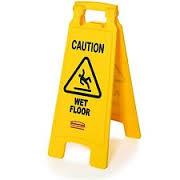 folding wet floor
