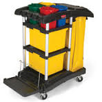 rubbermaid mf cleaning cart