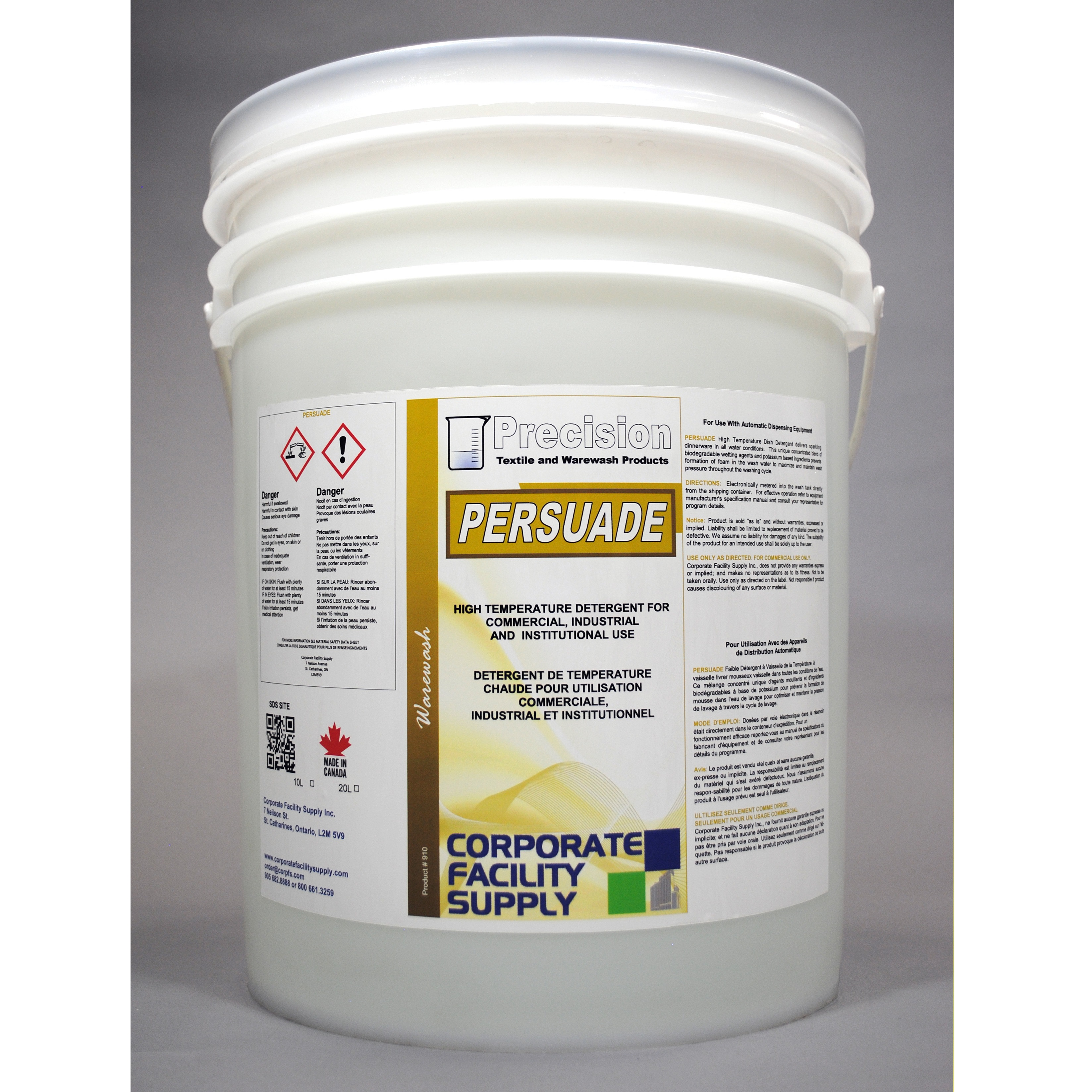 PRECISION  Persuade Chlorinated Machine Detergent- 20L
