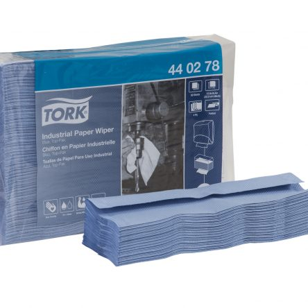 TORK Industrial Paper Wiper- Top Pak, Blue (Case/5×90)