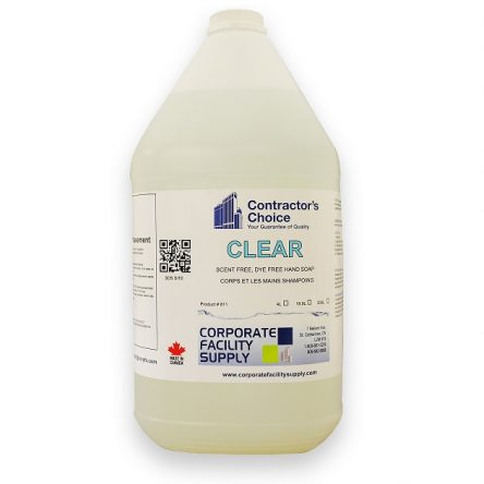 CLEAR -Scent free, Dye free Hand Soap 4L