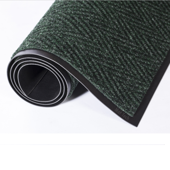 4×6 Chevron Floor Mat- Forest Green