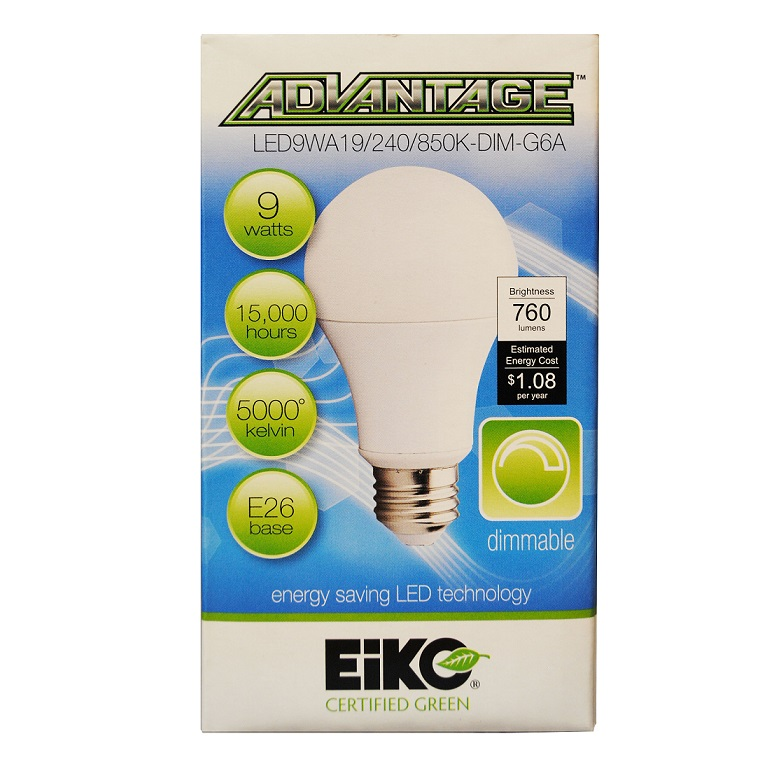 EIKO 9 Watt LED Light Bulb